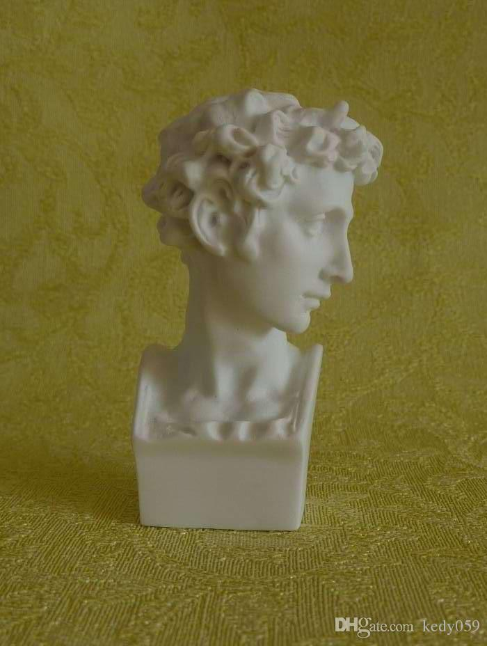 10 pz / set europeo famoso piccolo busto statua figura personaggio in resina mini gesso davide testa statua arte schizzo insegnamento home decor