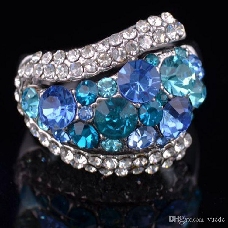 Мода ювелирные изделия новый 925 серебро пара сердце кольцо Fit Pandora женский Кристалл из Swarovski кольца