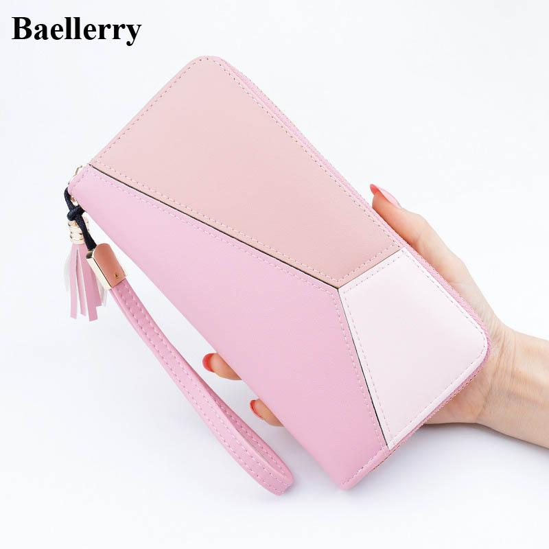 Designer Leather Wallets Women Purses Zipper Long Coin Purses Credit Card  Holders Clutch Phone Wallets Female Money Bags Handmade Leather Wallets  Small ... cfe9ea857bb9