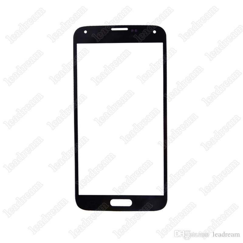 Remplacement de la vitre de l'écran tactile avant de haute qualité pour Samsung Galaxy s5 i9600 Noir Blanc Bleu
