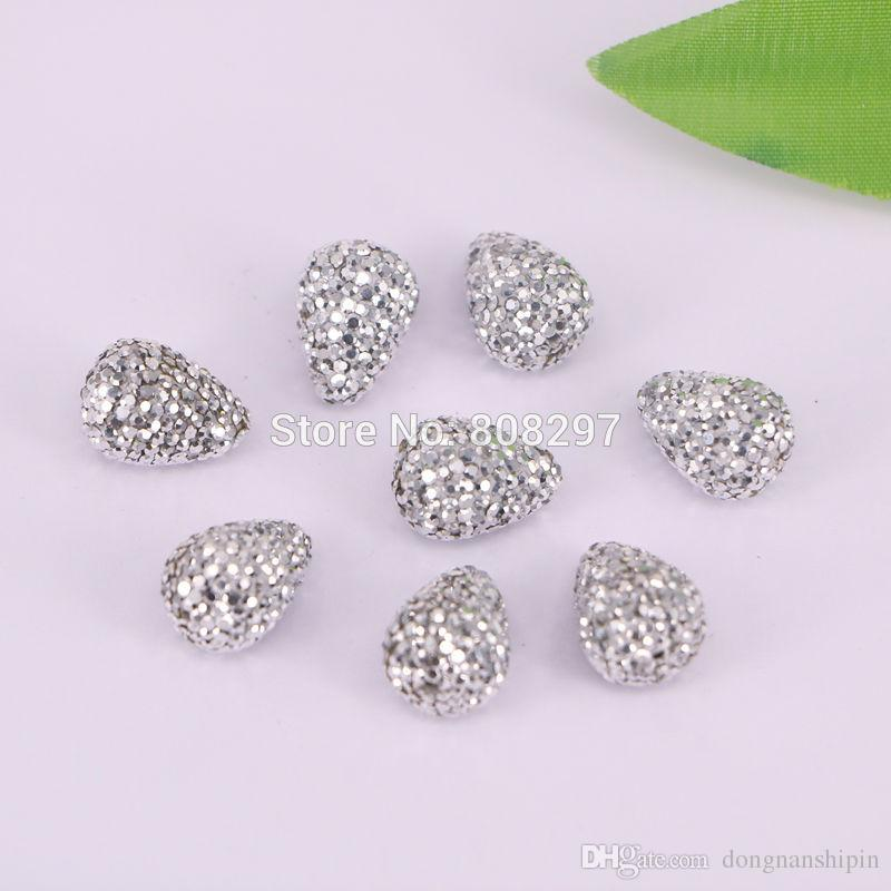 silve crystal rhinestone drop connector spacer beads, Diy jewelry making