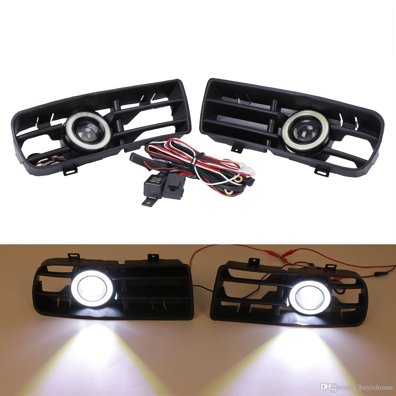 Fog Light Wiring Harness 2017 Gti 33 Diagram Images Mk4 Jetta 2x Led Lights Angel Eyes Front Bumper