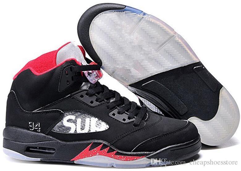 Großhandelsluft 5 Niedrig CHINA Frauen Männer CHINA Basketball Schuhe 5s Turnschuhe beschuht Sportgröße 5-12 Freie Verschiffen Sportschuhe