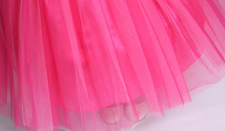 Girls Sleeping Beauty Diamond Aurora Princess Dress Belle Party Stage Dress Halloween XMAS Costume Cosplay Gauze Clothing PX-D15