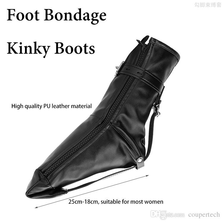 Fetish Foot Bondage Kinky Boots, Sex Slave bdsm Bondage Restraints Harness, Ankle Cuffs Adult Games Sex Toys for Woman