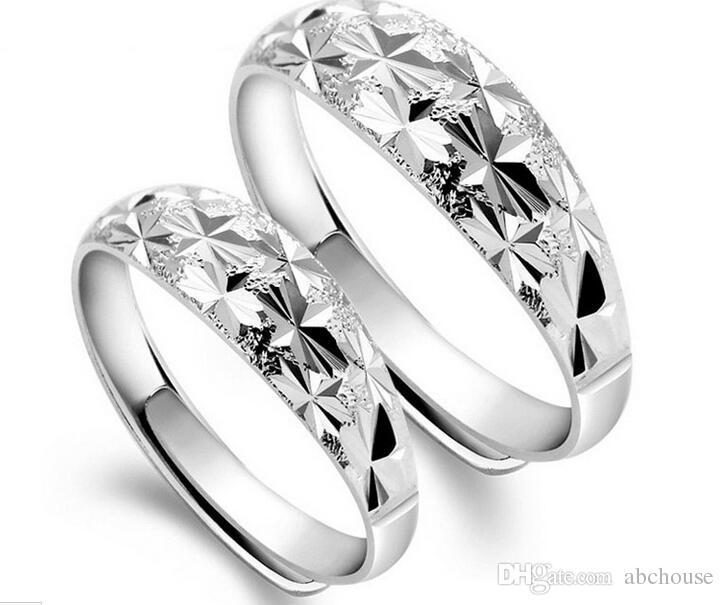 Art und Weise 925 Sterlingsilber, das kupferne endlose Liebes-Hochzeits-Edelstein-offene Ringe für Paare überzieht Freies Verschiffen