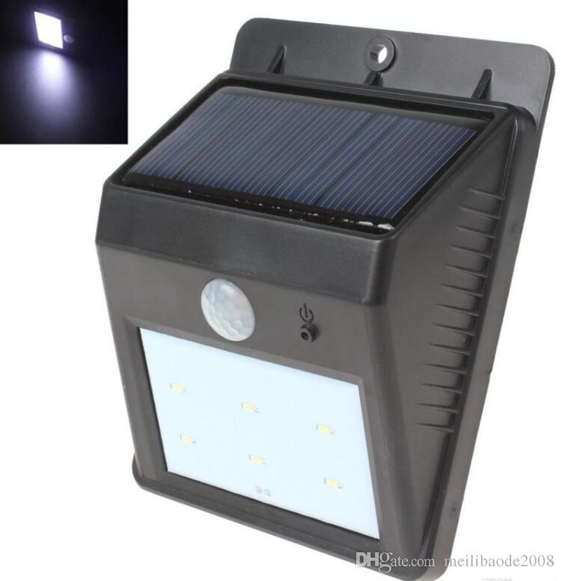 Super brillante 60lm impermeable PIR PIR MOVIMIENTO Energía solar Powered LED Light para pasarela / jardín / de jardín Shipiing gratis Myy