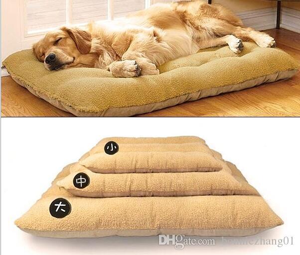 الشتاء الدافئ القطن مبطن جرو سرير البيت حصيرة قابل للغسل دافئ لينة أريكة بيت الكلب للكلاب قطط الكلاب الحجم