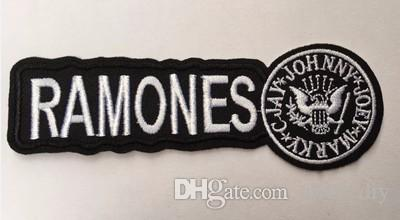 PUNK ROCK BAND Music LOGO RAMONES Patches Embroidered Iron On Badge Patch Hat Jacket Shoes Applique DIY Accessories