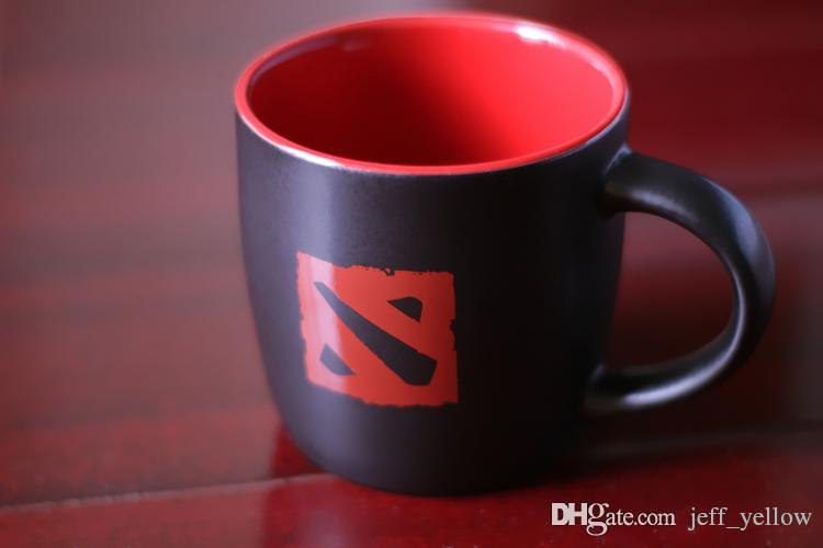 DOTA2 TI6 game Physical surroundings Red and black logo cup Mug Dota dream of the power of the cup figure