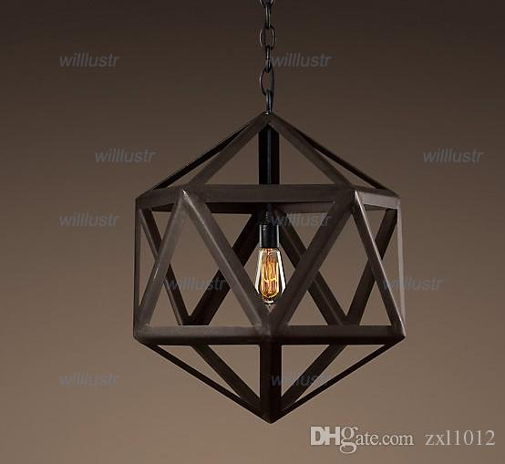 Compre diseo moderno vintage lmpara colgante steel polyhedron compre diseo moderno vintage lmpara colgante steel polyhedron pendant loft luces america country style lighting iron chandeliers a 16081 del zxl1012 aloadofball Choice Image