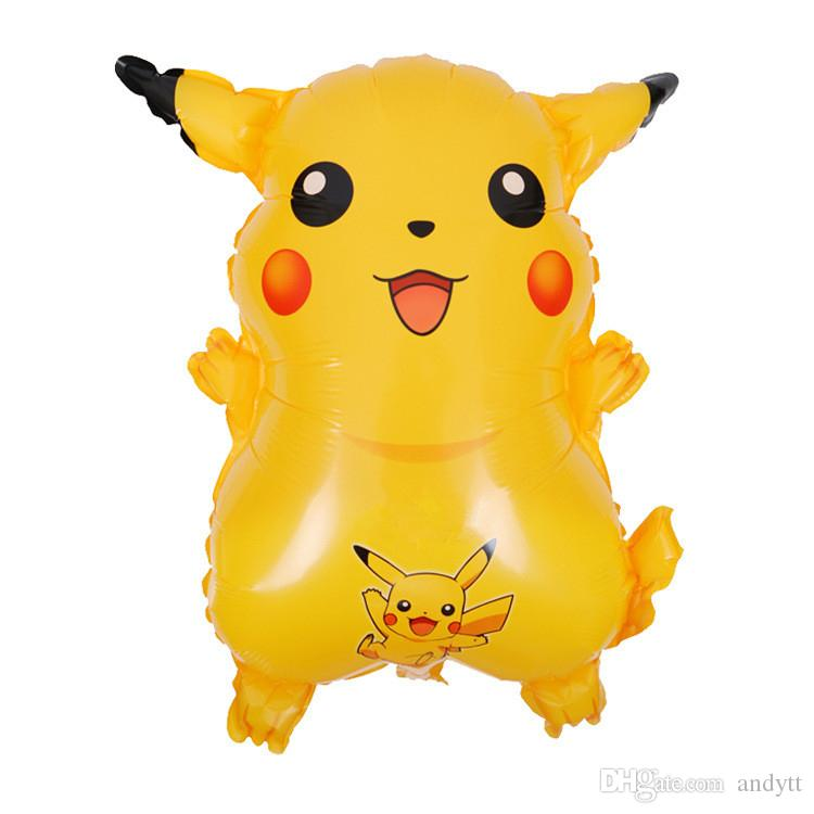 Pikachu Balloons Party decoration balloon Aluminium Coating Double Sided Balloons Party Supplies Easter Christmas Gifts GA028
