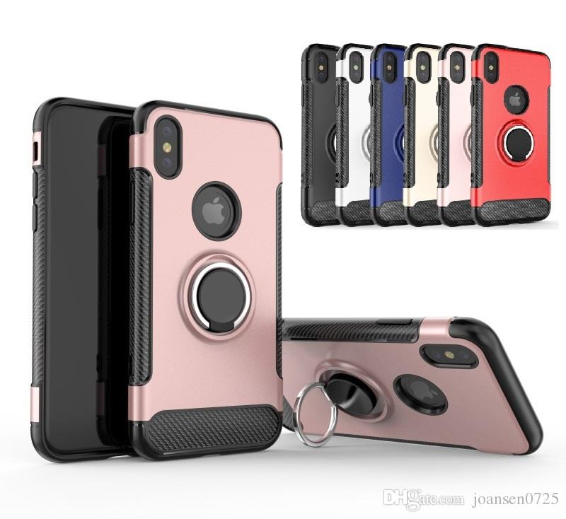 For Iphone 8 Cases Hybrid Tpu Pc Armor Case Shockproof Case 360 Ring