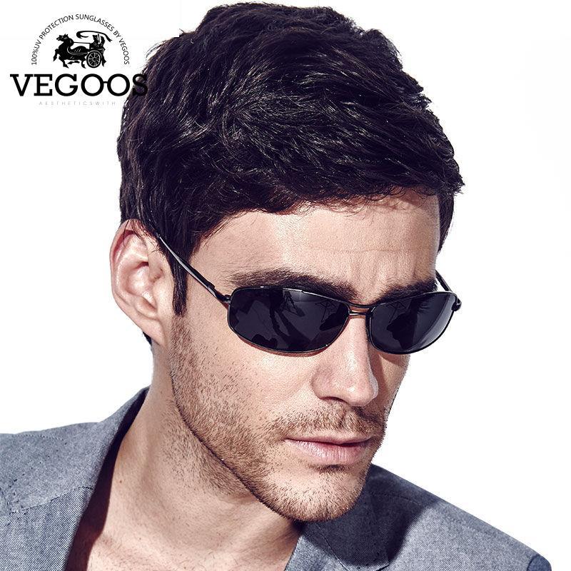 17c7f1632b Wholesale- VEGOOS Luxury Brand Designer Polarized Sunglasses Men ...