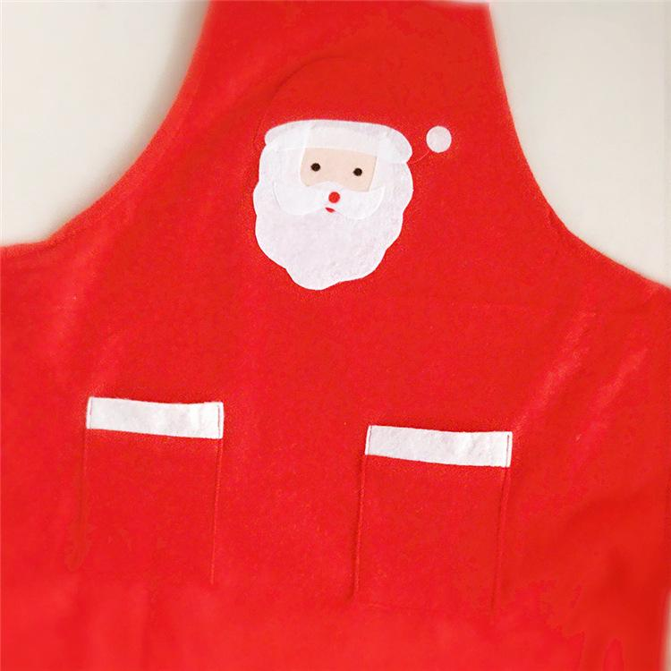 Christmas Santa Apron For Adult 56*85cm Christmas Kitchen Cute Chefs Cooking Cook Party Apron Christmas Party Home Decorations