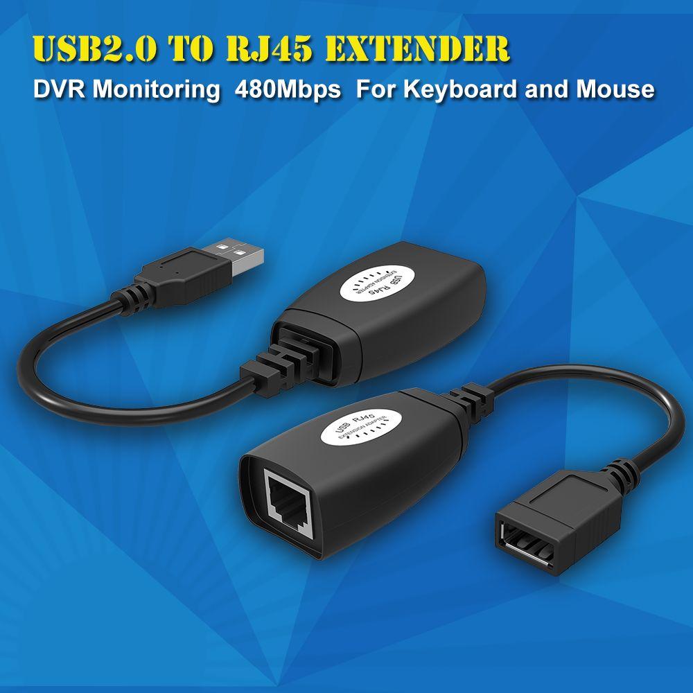 Wholesale New Usb Extender Adapter 50m Single Rj45 Ethernet Cat5e 6 Lan Converter To Kabel Up 150ft Cable For Laptop Dvr Mouse Power Network Tp Link