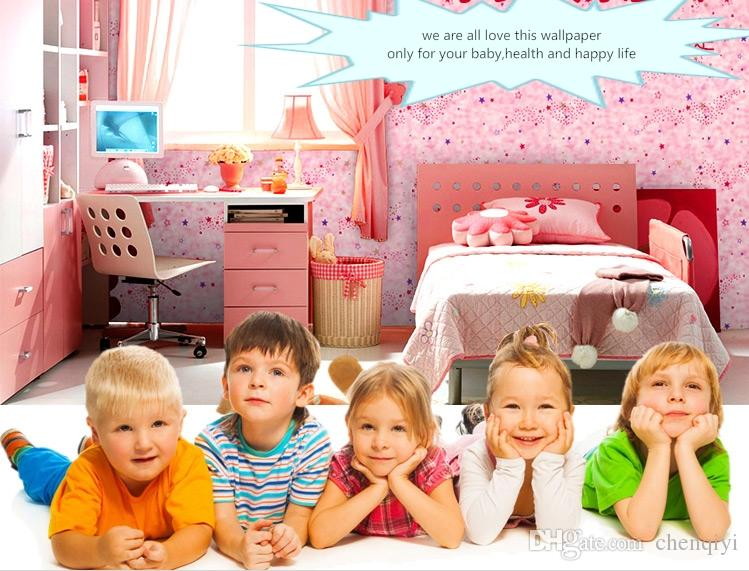 NEW 10m long 45cm wide children baby room cartoon star self-adhesive wallpaper top quality waterproof cabinet wardrobe furniture renovation
