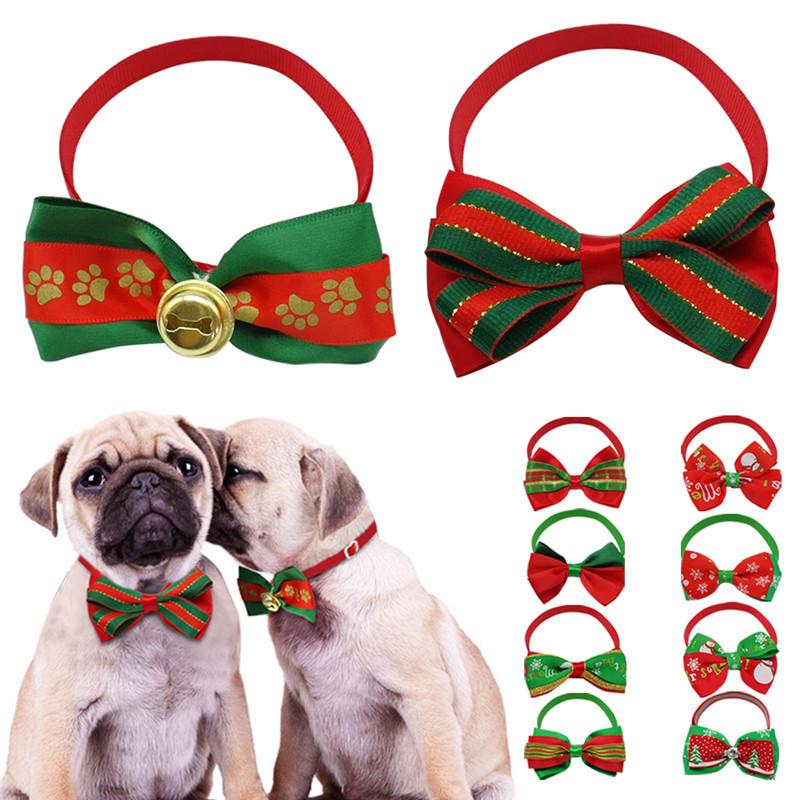 best cute christmas dog bow tie cat cloth lace decoration puppy necktie necklace accessories christmas gift for dogs under 036 dhgatecom - Christmas Presents For Dogs
