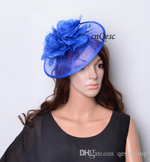 NUEVO sombrero de la boda sinamay fascinator de la moda con la flor de seda para el carnaval de carreras de la boda de la iglesia de Kentucky derby