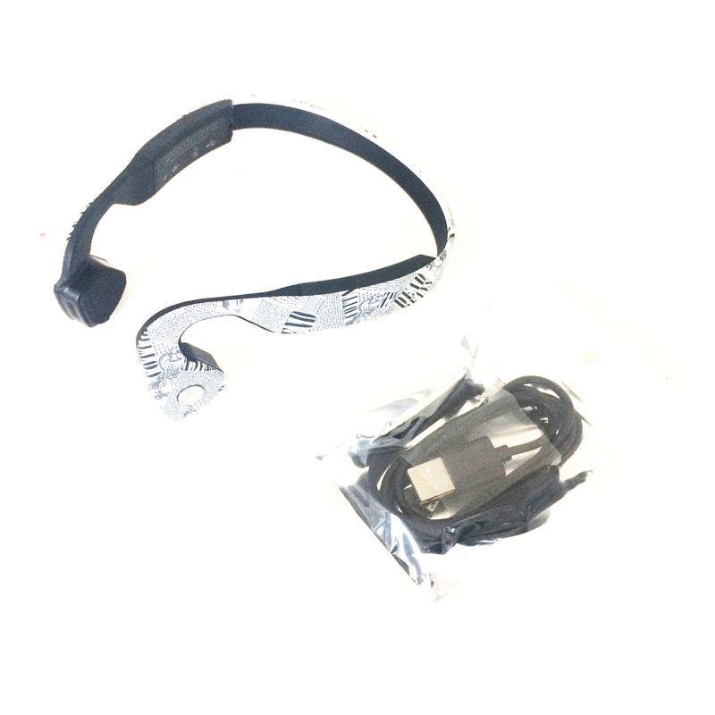 2017 Wireless Bone Conduction headphone Stereo Headset LK-CK Newspaper color BT 4.1 Waterproof Bluetooth Neck-strap NFC Earphone DHL Free