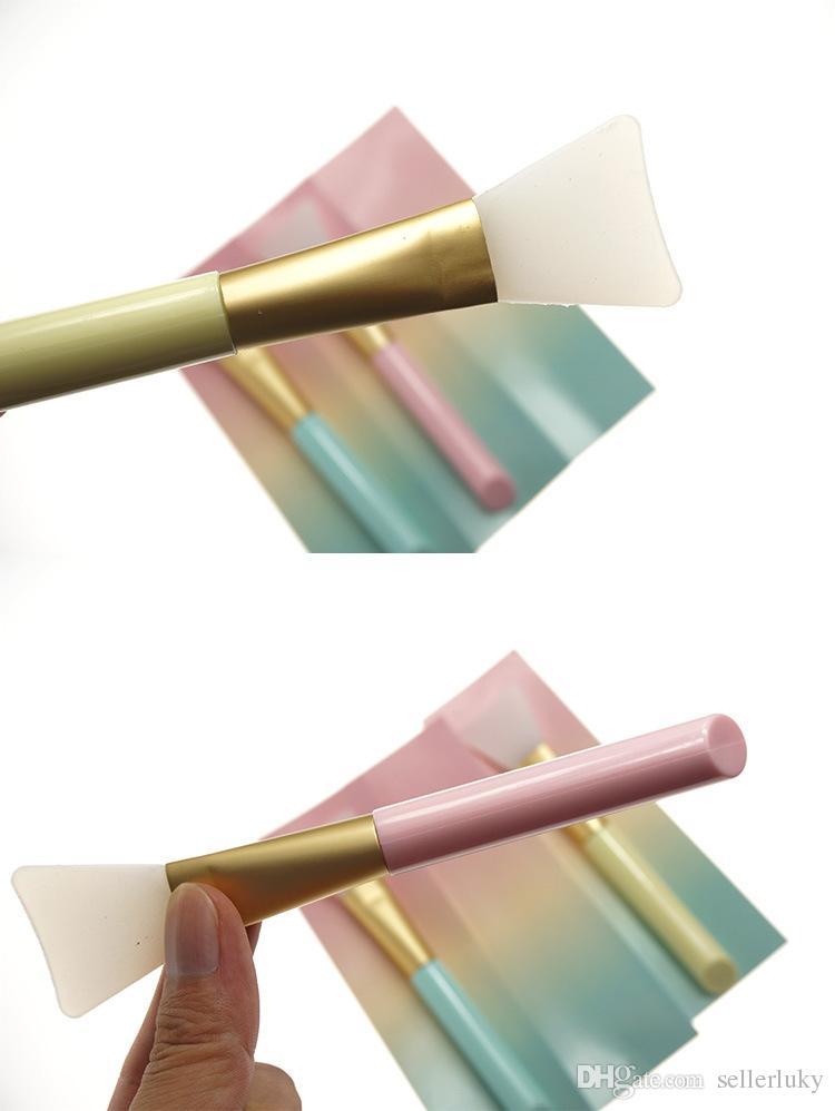 Maquillage professionnel pinceaux masque brosse visage maquillage pour les yeux visage gel de silice bricolage masque brosses outils de beauté cosmétiques