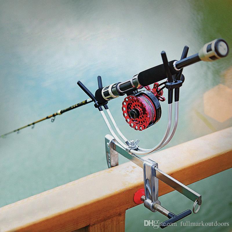 Portable Telescoping Fishing Hand Rod Holder with Adjustable Universal  Bridge Pier Handrail Fishing Rod Pole Stand