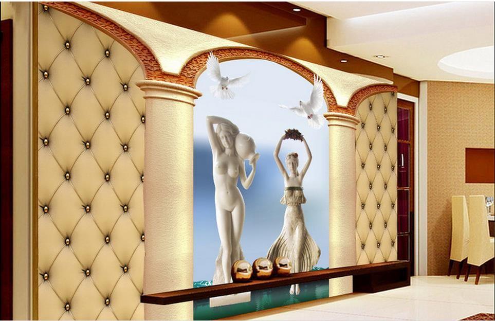 벽 벽지 3D 사진 벽지 사용자 정의 월페이퍼 거실 소프트 가방 양각 된 아름다움 배경 벽