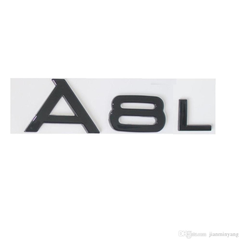 Gloss Black Trunk Rear Number Letters Words Badge Emblem Sticker For - Audi emblem