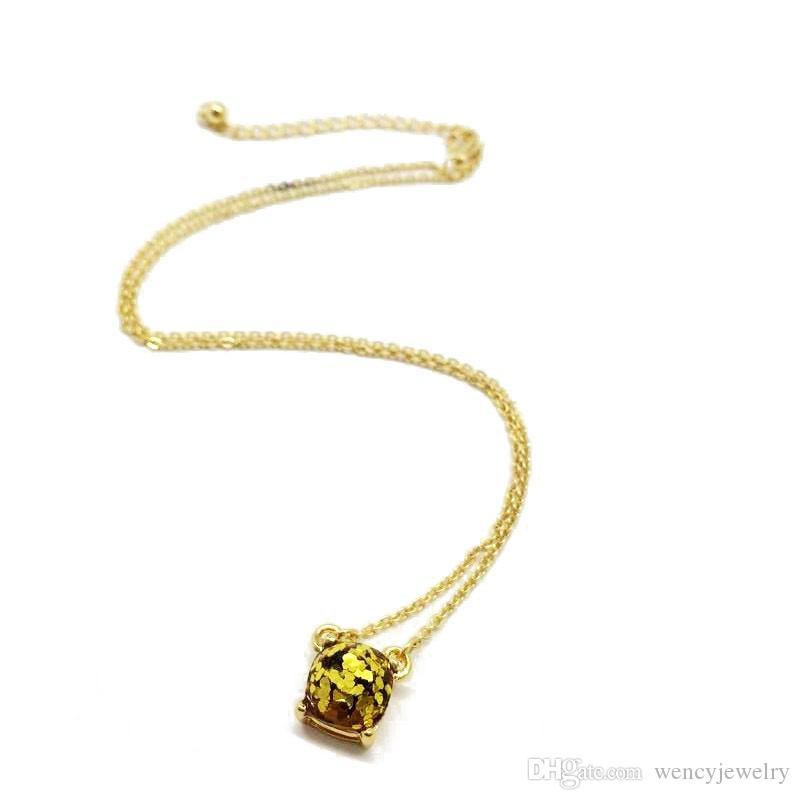 Nuovo pendente semplice quadrato di scintillio di trasporto libero Sveglio più collana elegante di colori, collana dolce di modo della ragazza