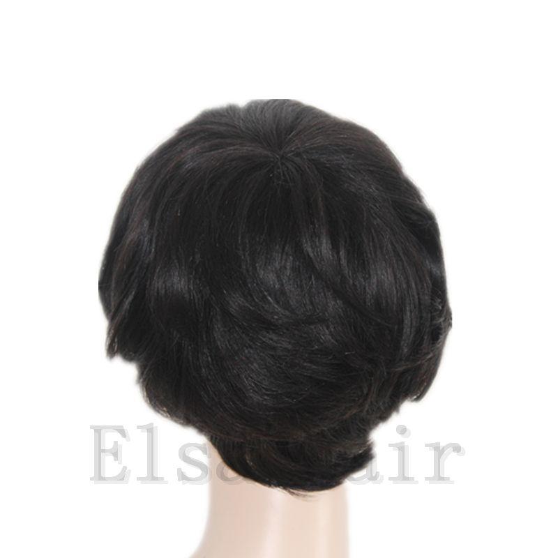6A Grade Glueless Rihanna Chic Cut Short Human Hair Wigs Unprocessed Indian Human Hair Wigs For Black Women