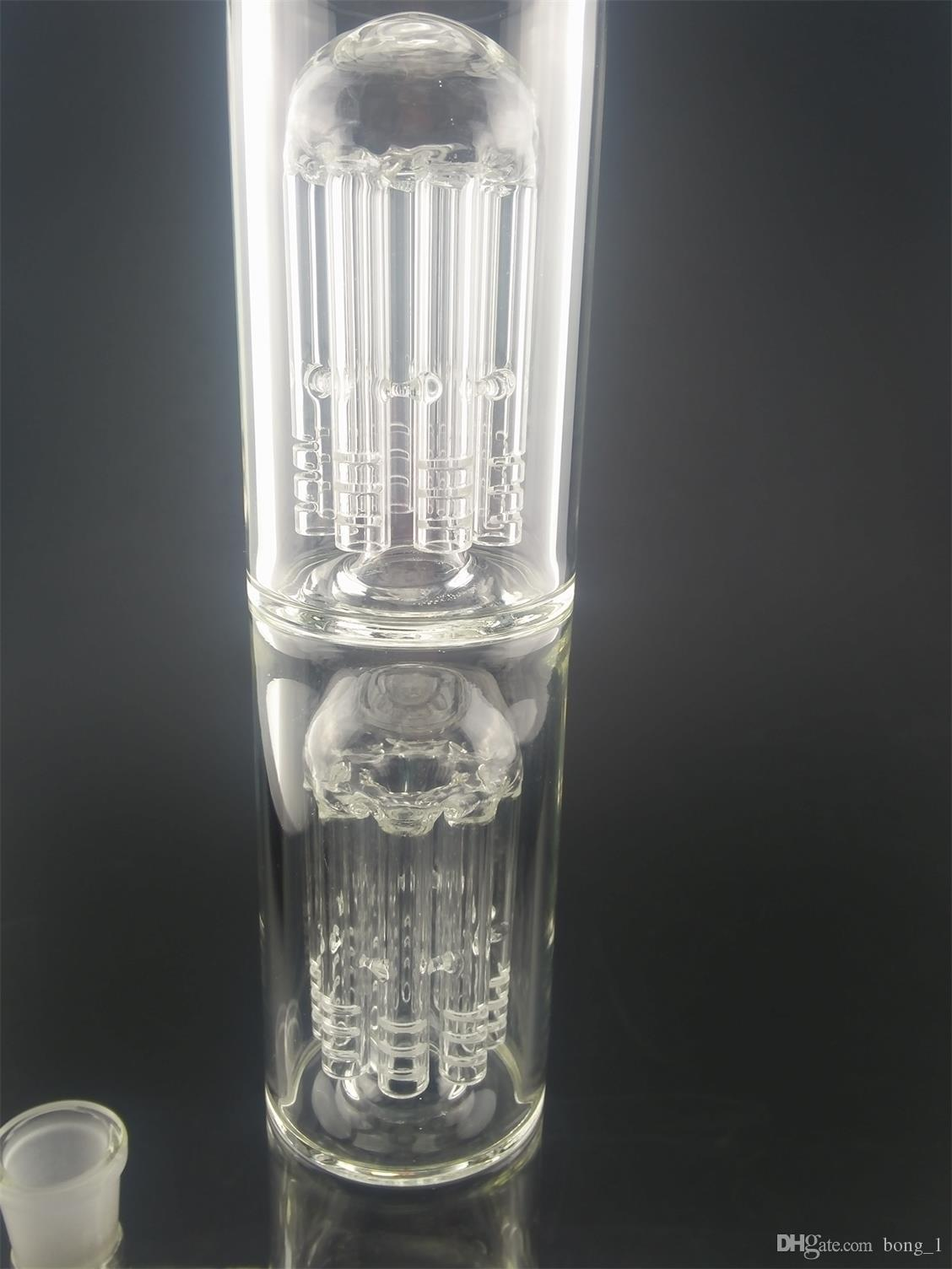 Новая высота 47 см стекло бонг Inline perc нефтяной вышке водопровод курительные кальяны ясно прозрачные цвета