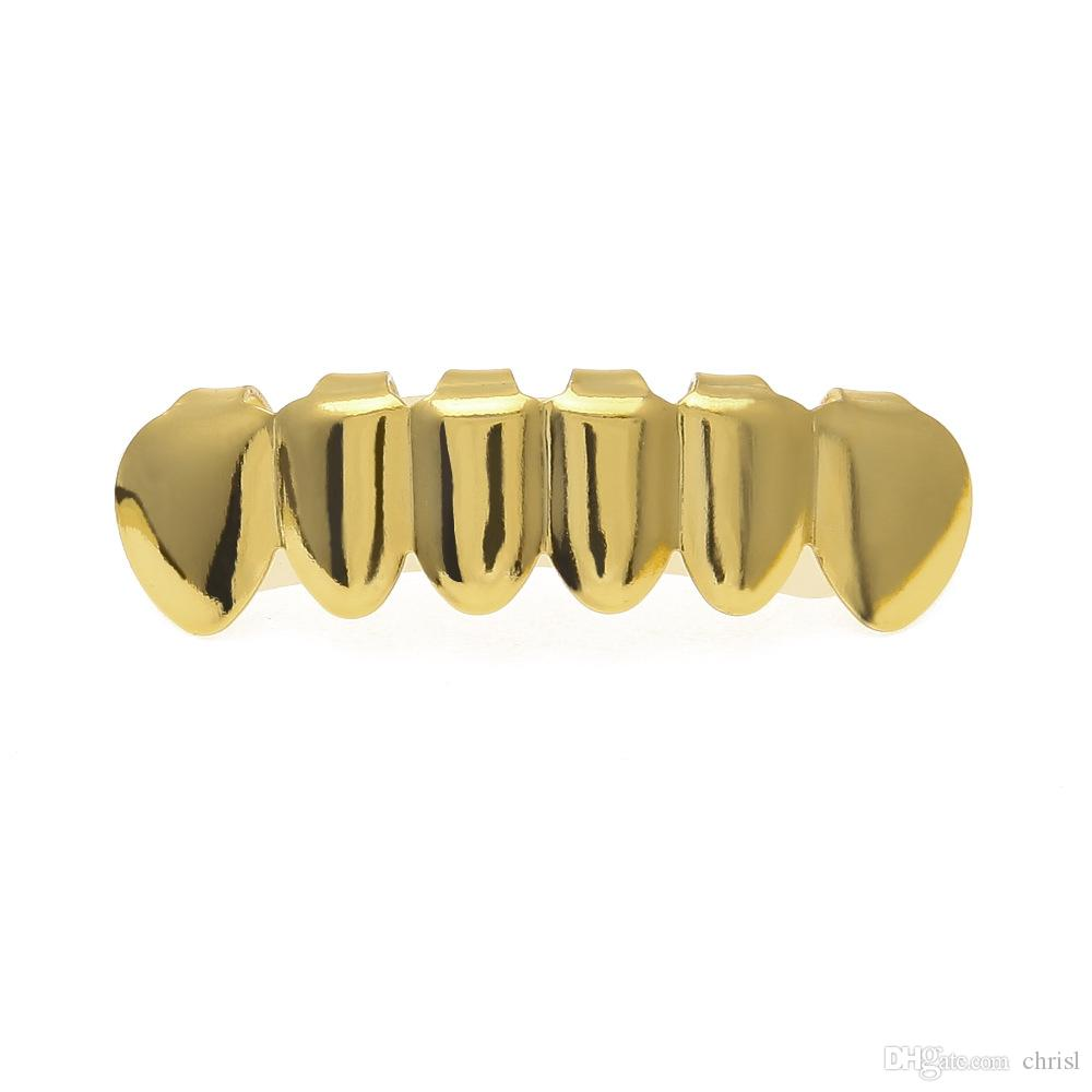 New Diamonds Gold Teeth Poker Scarlet Style Spades Pops Hip Hop Bling Golden Grills For Christmas Gift