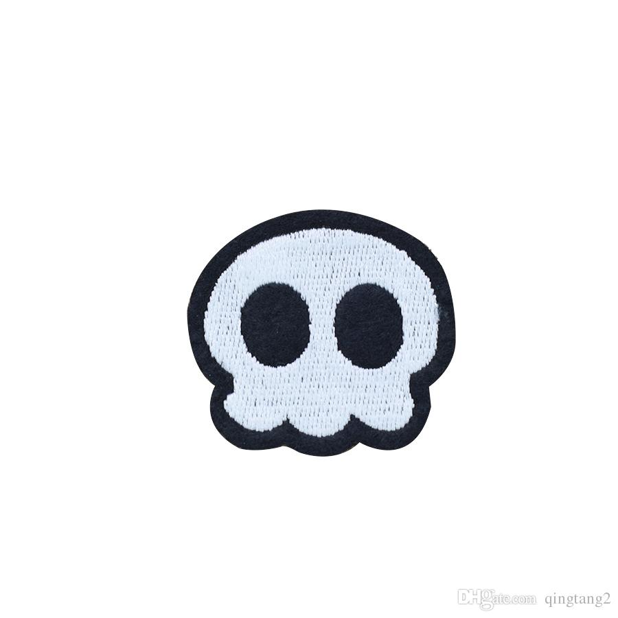 black eye skull embroidery patches for clothing iron patch for clothes applique sewing accessories stickers on cloth iron on patches