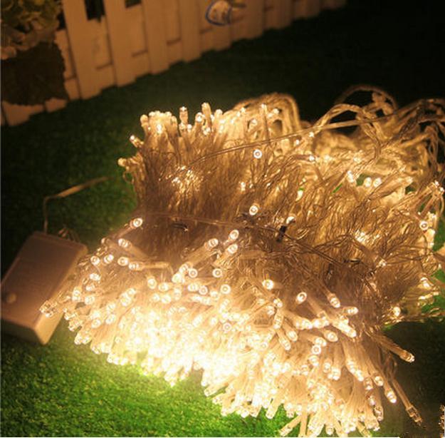 Luci tende luci di natale 10 * 8m 10 * 5m 10 * 3m 8 * 4m 6 * 3m 3 * 3m luci a led Lampada ornamento natalizio Flash colorato Fata Decorazioni di nozze