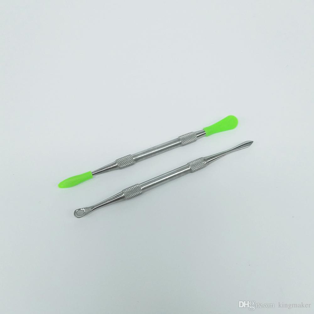 Titanio Strumento GR2 Dabber Wax atomizzatore in acciaio inox Dab strumento titanio Nail Dabber strumento secco Herb Vaporizzatore