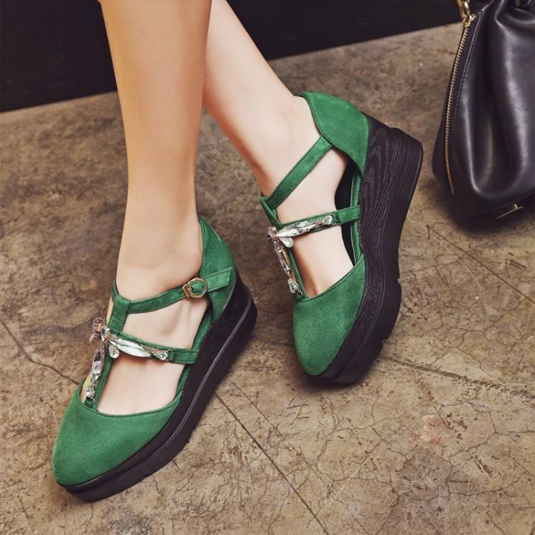 f84f77b7569 2017 Summer Female Sandals Pointed Toe Nubuck Leather Velvet Cross Hasp  Belt Casual Shoes 334243 Size Ladies Footwear Fashion Shoes From Tu108