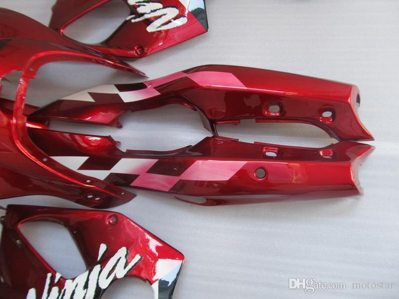 New hot moto parts Fairing kit for Kawasaki Ninja ZX6R 1994-1997 wine red fairings set zx6r 94 95 96 97 OT10