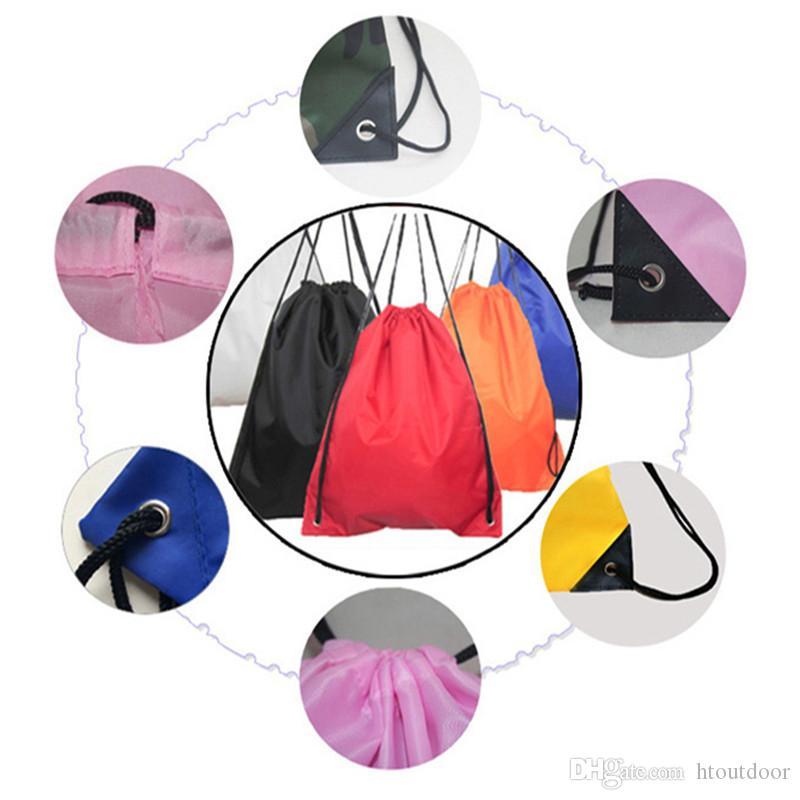 35*40CM Outdoor Sport Camping Hiking Climbing Cycling Nylon Drawstring Backpack Bags Support Logo Print