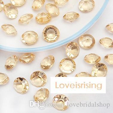 18 couleurs choisir - 10mm 4 carats rose couleur diamant confettis Faux acrylique perle tableau dispersions mariage faveurs décor de fête - livraison gratuite