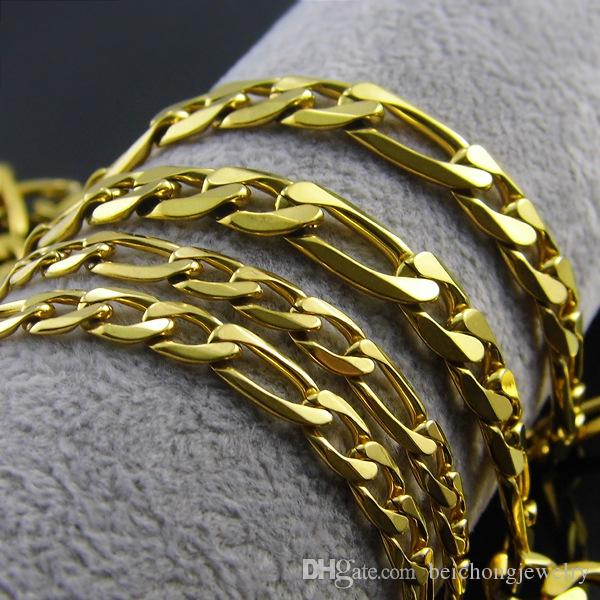 Beichong Gold Chain For Men Hip Hop Jewelry Stainless Steel Curb Chain Necklace Gold Color Femme Jewelery Chain Wholesale Colar