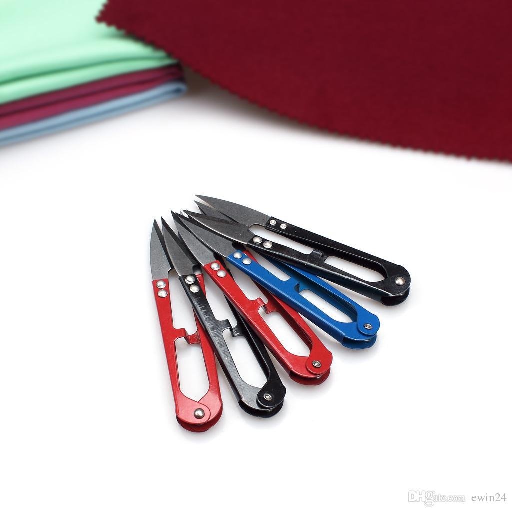 Ciseaux de coupe de coupe en forme de U pinces cisailles nécéssaire de la nécessité de broderie machine à coudre outils ciseau outil fait à la main avec le tranchant