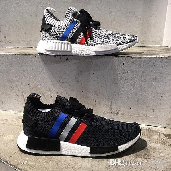 Best Drop Shipping Adidas NMD Runner PK Mens running shoes Blue white