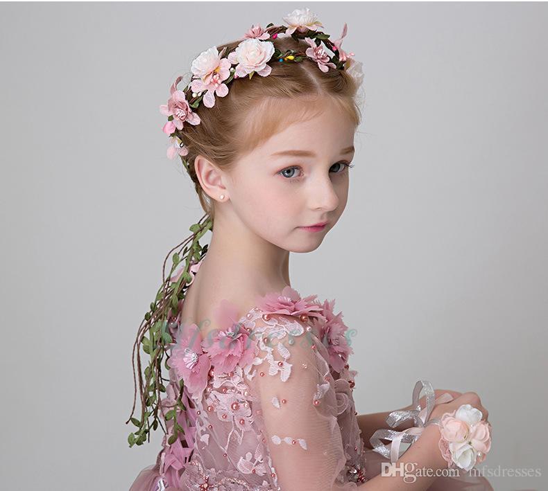 boho floral flower girl garland headwear crown of flowers for hair wreath headband accessories headpieces wedding tiara