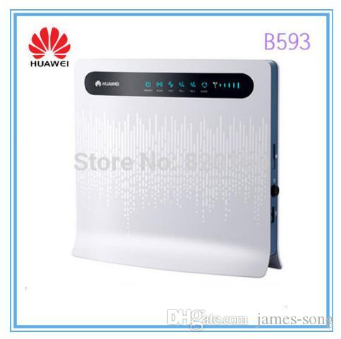 Unlocked Huawei B593u-12 100Mbps 4g LTE Router Wireless LTE  FDD800/900/1800/2100/2600 3G/4G wifi Mobile Hotspot with 4xLAN ports