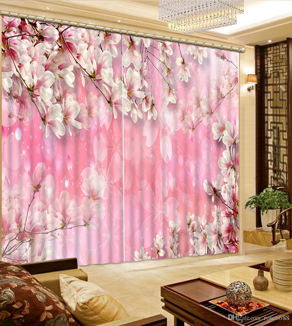 2017 Decorative Home Decor Pink Flower Forest Bedroom Blackout Curtain  Fashion Decor Home Decoration For Bedroom From Rose6688, $199.4 | Dhgate.Com