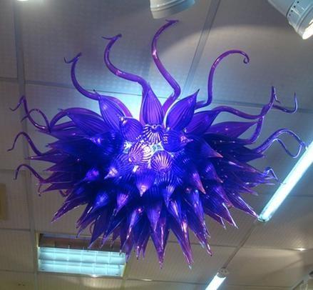 Большая Скидка Art Glass Люстра Бесплатная Доставка Воздуха Индия Цветочная Форма Дешевые Цветные Стеклянные Подвесные Светильники