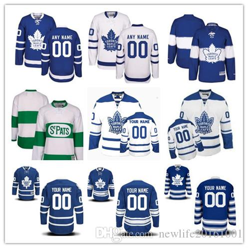 787b3be26 Personalized Toronto Maple Leafs Custom Men Women Youth Hockey Jerseys  Green Home Blue Away White Winter 2017 Centennial Classic Third S