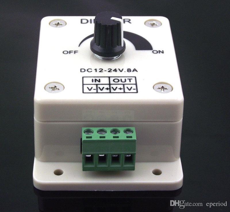 Led dimmer DC 12-24V 8A 96W PIR Sensor Light lamps Switch Dimmer Bright Brightness Adjustable Controller Single Color LED controller
