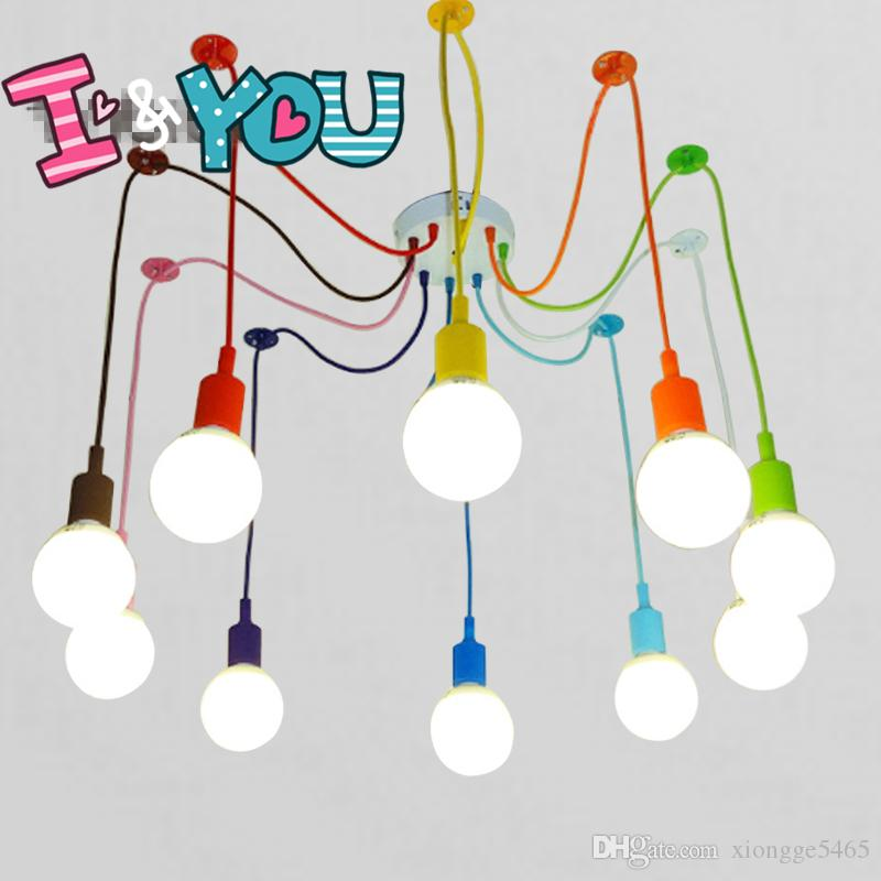 Discount Colorful Pendant Lamp 10 Heads Multi Colored Silicone E27 Art Pendant  Lights For Modern Bar Restaurant Bedrooms Shopping Mall Hanging Lamp  Ceiling ...