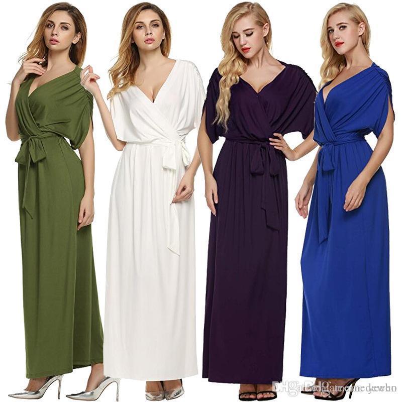 807fc690fc8026 Großhandel Sommer Sexy Frauen Boho Maxi Kleid Langes Kleid 2017 Sexy ...